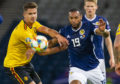 GLASGOW, SCOTLAND - SEPTEMBER 9: Scotland's Matt Phillips (right) battles with Belgium's Leandre Dendoncker during a UEFA Euro 2020 qualifier between Scotland and Belgium, at Hampden Park, on September 9, 2019, in Glasgow, Scotland. (Photo by Bruce White / SNS Group)