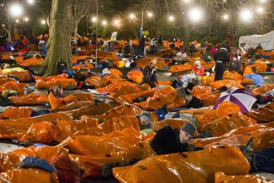 2017 Sleep in the Park in Edinburgh's Princess Gardens