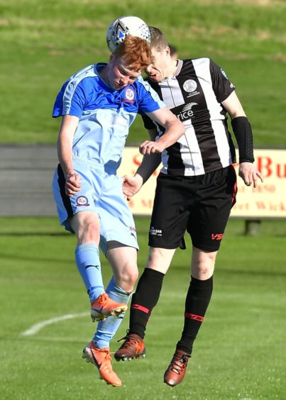 Wick's Ross Allan and Turriff's Lewis Buxton