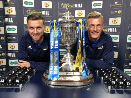 Scotland internationals Stephen O'Donnell and Craig MacGillivray conducted the draw.