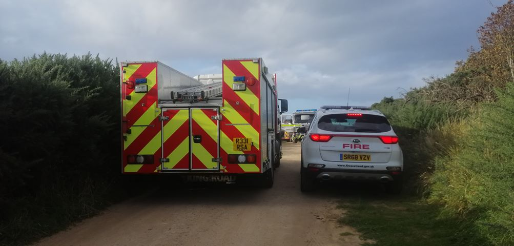 Fire crews called to gorse fire at Moray quarry | Press and Journal