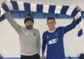 Cove Rangers manager Paul Hartley with new signing Fraser Aird.