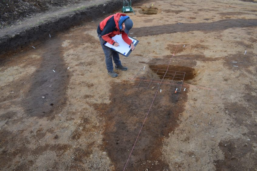 Archaeologists have documented the find, which came on the final day of the project