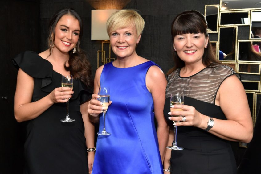 VIP Guests (from left) Aimee Mitchell, Karen Pugh and Tracy Clark. Picture by COLIN RENNIE