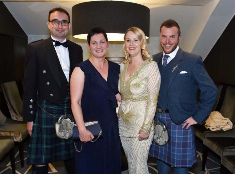 VIP Guests (from left) Alex Campbell, Jen Scott, Julie Roberts and Kevin Taylor. Picture by COLIN RENNIE