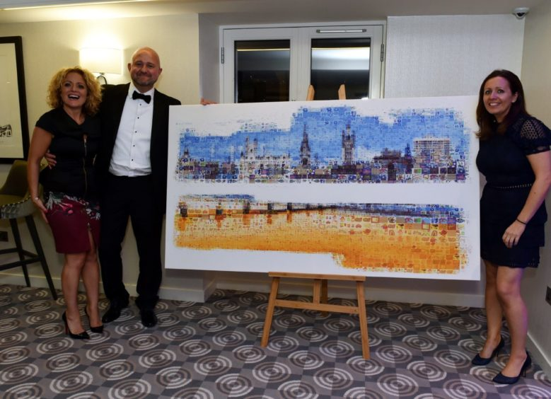Stork's Mike Duncan who bid for the Charlie House artwork. Picture by COLIN RENNIE