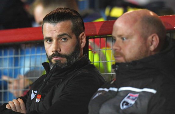 Ross County co-managers Stuart Kettlewell, left, and Steven Ferguson during the Ladbrokes Premiership match between Ross County and Rangers.