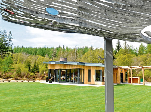 The new Falls of Shin visitor centre. Picture by Sandy McCook