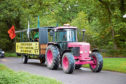Extinction Rebellion Farmers' pink tractor