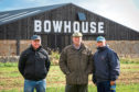 John Walker, Vice Chairman Scottish Ploughing Championships, Sam Parsons, Estate Manager for Balcaskie and Willie Grieve, Chairman of Scottish Ploughing Championships.