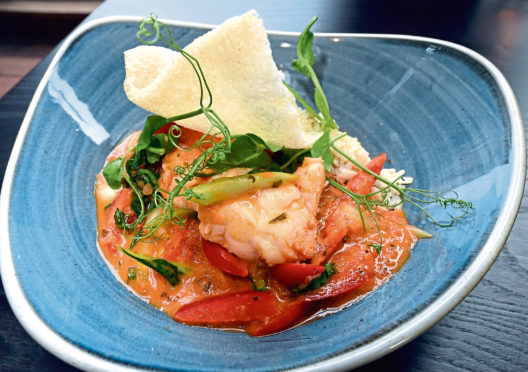 Monkfish curry from The Esslemont Bar and Restaurant   Picture by Jim Irvine