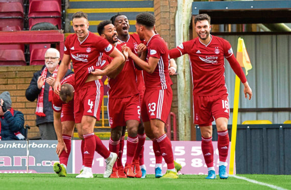 Depleted Dons can say job well done after comfortable win over Motherwell   Press and Journal
