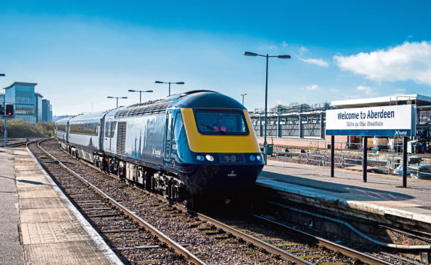 InterCity high-speed train at Aberdeen