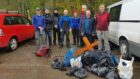 The Ben Nevis team collected rubbish from the summit