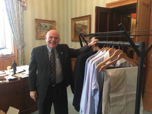 The Lord Provost with some of the new items