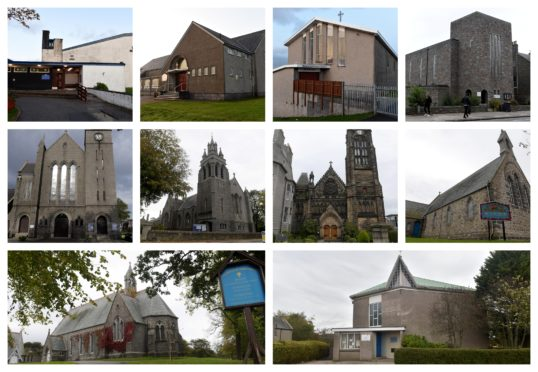 Number of church buildings in Aberdeen could close.