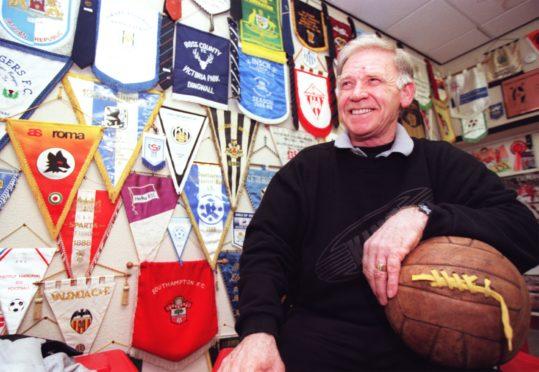 Aberdeen FC club legend Teddy Scott.