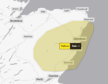 Yellow weather warning is in place across Aberdeenshire and Moray.