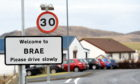 The shop is in Brae, Shetland. Picture by Jim Irvine