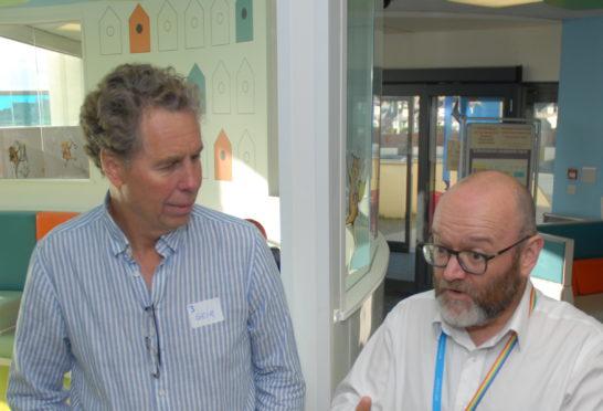 Cameron Matthew (R) and Geir Neilsson (L) inside RACH.