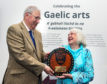 Flora was presented with her prize at a gathering at the Museum of the Isles in Armadale Castle on Saturday 28 September by Sir Ian Macdonald, Chair of the Board of Trustees of Clan Donald Lands Trust.