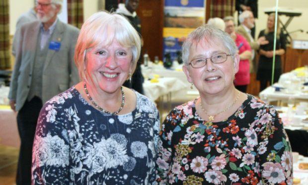 Rotary members Eleanor Macalister and Hilary Gordon.