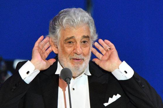 Spanish tenor Placido Domingo