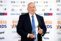 Highland Business Awards 2019. Donald Mathieson from D&E Coaches with his award for Best Family Business. Picture: James MacKenzie.