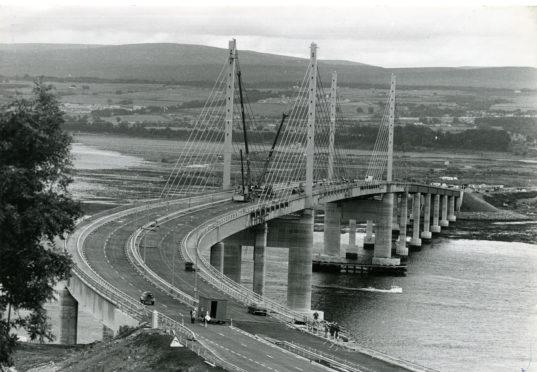 The Kessock Bridge in 1982