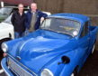 CR0014985 The annual Fraserburgh historic vehicle run from East to West starting from Fraserburgh. Pictured from left are, Stephen Jappy and Jim McCue with an Austin Pickup. Pic by...............Chris Sumner Taken..............5/10/19