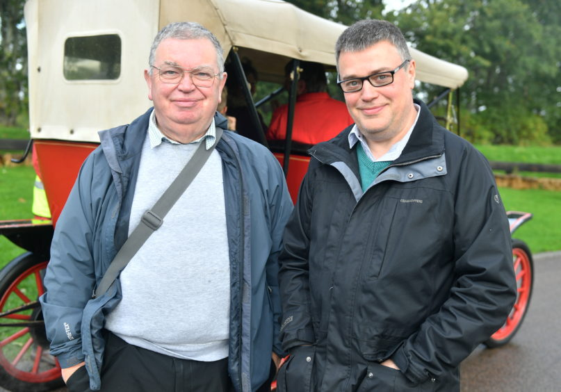 CR0014953 Pictures for YL from the Steam Engine day at Grampian Transport Museum Pictured from left are, Dave Henderson and Malcolm McNeil. Pic by...............Chris Sumner Taken..............6/10/19