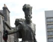 The Gordon Highlanders statue on the Castlegate.