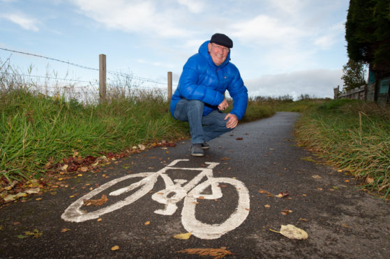 Mike Mulholland, chairman of the Cycle Track Committee. Picture by Jason Hedges