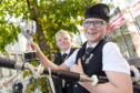 Archie Johnston (right) of Mull with the Roderick Ross, Ferintosh, Memorial Trophy for piping in the under 13 age groups. Also in the photograph is his brother Logie who won the same cup at last years Mod in Dunoon. Picture by Sandy McCook.