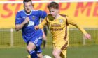 Andrew Macrae in action for Forres Mechanics.
