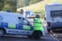A pedestrian was yesterday knocked down by a lorry on the A82 just north of Drumadrochit.