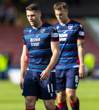 17/08/19 BETFRED CUP SECOND ROUND PARTICK THISTLE v ROSS COUNTY THE ENERGY CHECK STADIUM - GLASGOW Ross County's Iain Vigurs looks dejected at full-time