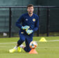 David Marshall during a Scotland training session