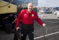 Scotland manager Steve Clarke pictured at Edinburgh Airport.