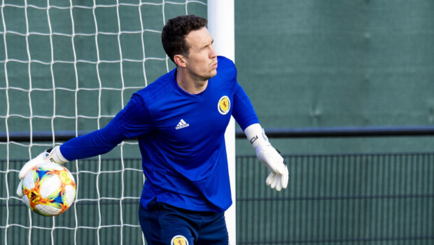 Scotland's Jon McLaughlin during a training session.
