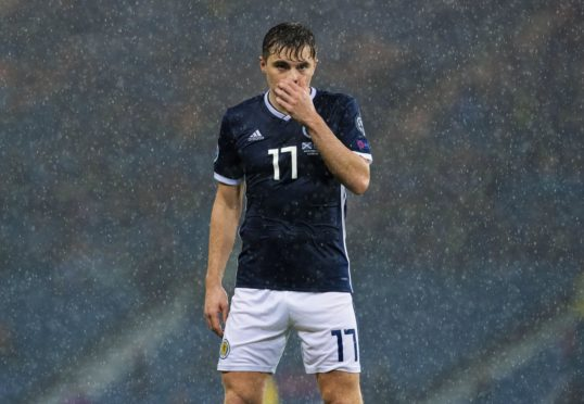 GLASGOW, SCOTLAND - OCTOBER 13: Scotland's James Forrest is pictured during the UEFA European qualifier between Scotland and San Marino, on October 13, in Glasgow, Scotland. (Photo by Alan Harvey / SNS Group)