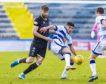 Shaun Rooney in action against Morton.