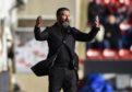 Aberdeen manager Derek McInnes on the touchline.