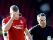 Aberdeen's Sam Cosgrove at full-time of the Ladbrokes Premiership match between Aberdeen and Celtic