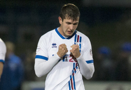 Caley Thistle striker Nikolay Todorov.