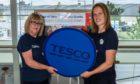 Tesco Community Champions Liz Cairns Jones and Gemma Morrison.