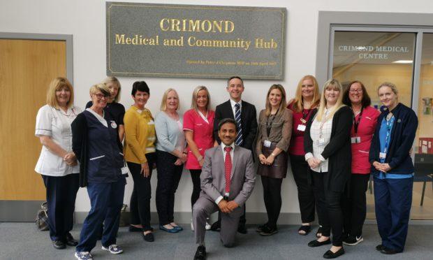 Staff at the Crimond Medical Centre celebrating the award