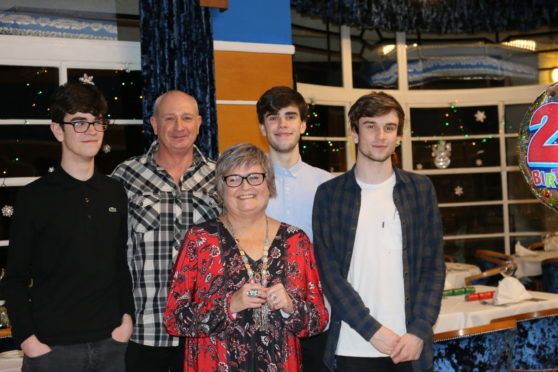 Julie Forbes, husband Stuart and their sons Michael, James and Jack