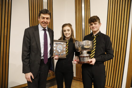 Winners of the National Gaelic Schools Debate 2018 - Nicolson Institute A with Presiding Officer Ken Macintosh MSP/ 28 November 2018  . Pic - Andrew Cowan/Scottish Parliament