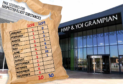 The number of mail items seized at HMP Grampian on suspicion of drugs.